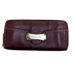 Michael Kors Red Saratoga Leather Wallet